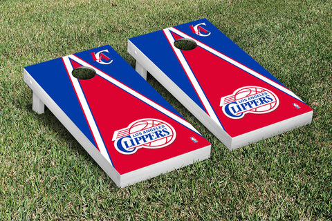 Los Angeles Clippers Cornhole Game Set Triangle Version - Victory Tailgate 28691