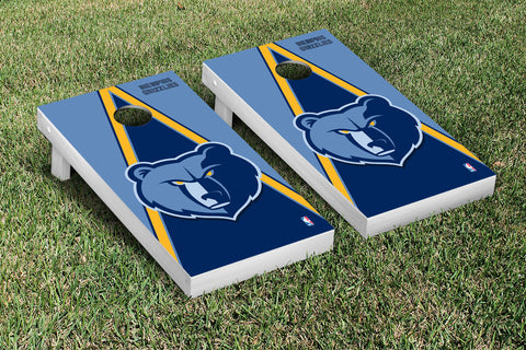 Memphis Grizzlies Cornhole Game Set Triangle Version - Victory Tailgate 28704