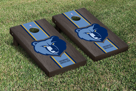 Memphis Grizzlies Onyx Stained Stripe Version Cornhole Set Victory Tailgate 28707