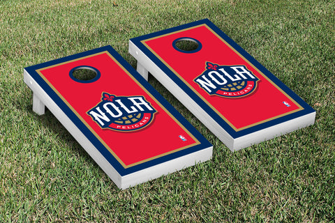 New Orleans Pelicans Cornhole Game Set Border Version - Victory Tailgate 28797