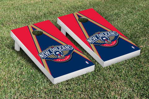 New Orleans Pelicans Cornhole Game Set Triangle Version - Victory Tailgate 28799