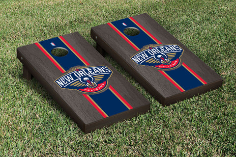 New Orleans Pelicans Onyx Stained Stripe Version Cornhole Set Victory Tailgate 28802