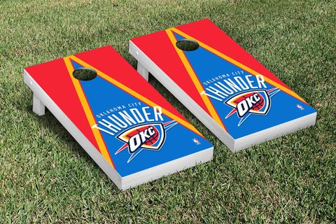 Oklahoma City Thunder Cornhole Game Set Triangle Version - Victory Tailgate 28823