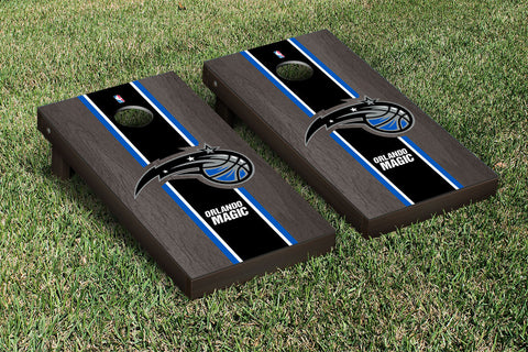 Orlando Magic Onyx Stained Stripe Version Cornhole Set Victory Tailgate 28846