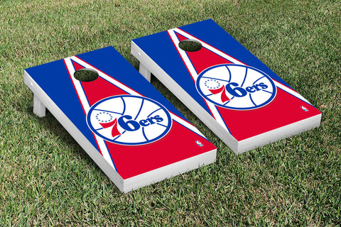 Philidelphia Sixers 76ers Cornhole Game Set Triangle Version - Victory Tailgate 28859