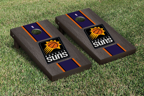 Phoenix Suns Onyx Stained Stripe Version Cornhole Set Victory Tailgate 28878