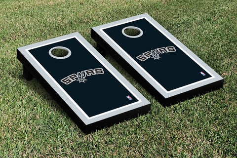 San Antonio Spurs Cornhole Game Set Border Version - Victory Tailgate 28923