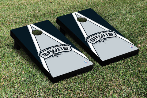 San Antonio Spurs Cornhole Game Set Triangle Version - Victory Tailgate 28925