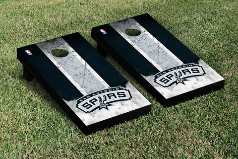 San Antonio Spurs Cornhole Game Set Vintage Version - Victory Tailgate 28926