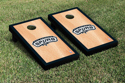 San Antonio Spurs Hardcourt Version Cornhole Set Victory Tailgate 28928