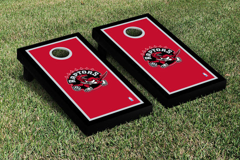 Toronto Raptors Cornhole Game Set Border Version - Victory Tailgate 28940