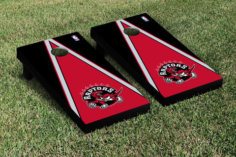 Toronto Raptors Cornhole Game Set Triangle Version - Victory Tailgate 28942