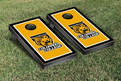 Colorado College Tigers Cornhole Game Set Border Version 1 - Victory Tailgate 29502