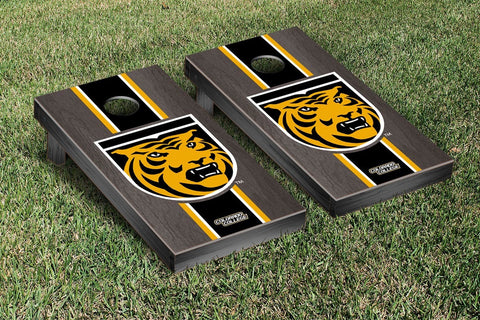 Colorado College Tigers Onyx Stained Stripe Version Cornhole Set Victory Tailgate 29507