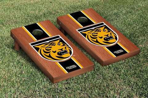Colorado College Tigers Rosewood Stained Stripe Version Cornhole Set Victory Tailgate 29508