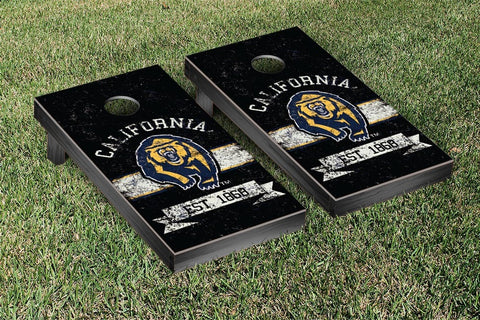 UC Berkeley Golden Bears Cornhole Boards and bags, Banner Vintage Version - Victory Tailgate 30842