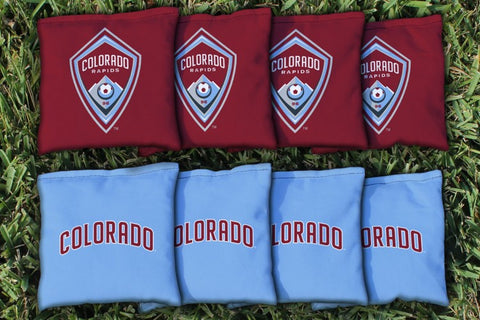 Colorado Rapids CRSC Replacement Cornhole Game Bag Set (corn filled)