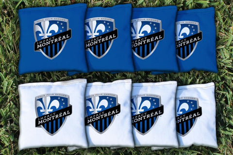 Montreal Impact MISC Corn Hole Bag Logo Set - corn filled