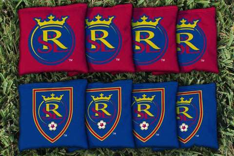Real Salt Lake RSL Royals Corn Hole Bag Logo Set - corn filled