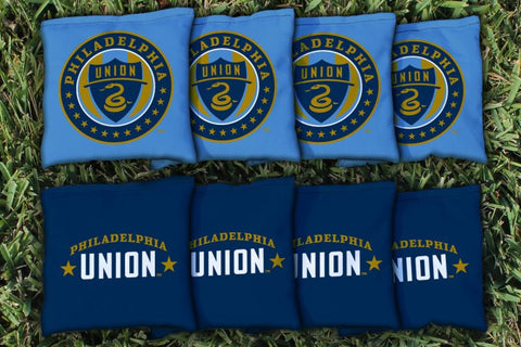 Philadelphia Union Zolos Corn Hole Bag Logo Set - corn filled