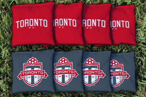 Toronto FC TFC Reds Corn Hole Bag Logo Set - corn filled