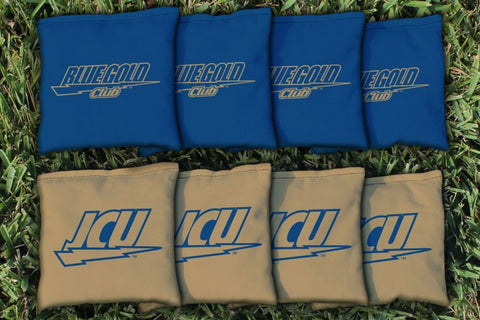 John Carroll Blue Streaks Corn Hole Bag Logo Set - corn filled