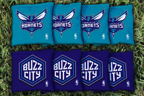 Charlotte Hornets Corn Hole Bag Logo Set - corn filled