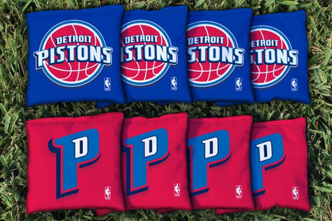 Detroit Pistons Corn Hole Bag Logo Set - corn filled