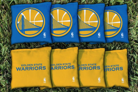 Golden State Warriors Corn Hole Bag Logo Set - corn filled