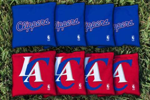Los Angeles Clippers Corn Hole Bag Logo Set - corn filled