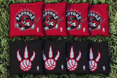 Toronto Raptors Corn Hole Bag Logo Set - corn filled