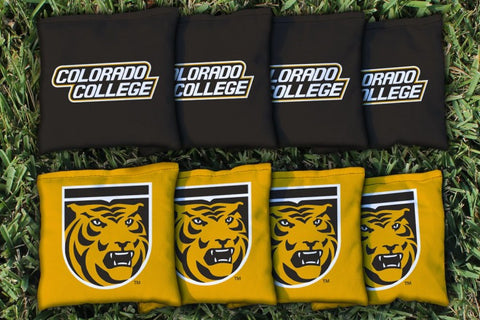 Colorado College Tigers Corn Hole Bag Logo Set - corn filled