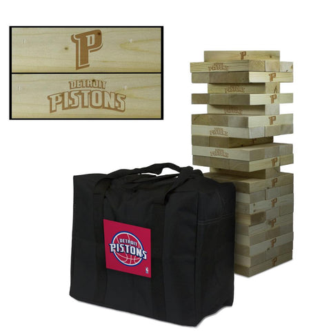 The Detroit Pistons Giant Jenga Tumble Tower Game