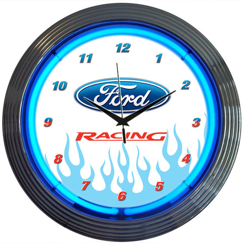 Neonetics Ford Racing Neon Clock - 8FRACE