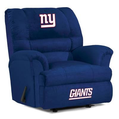 New York Giants  Big Daddy Reclining Chair for Mans Caves and fan recliners