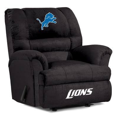 Detroit Lions  Big Daddy Reclining Chair for Mans Caves and fan recliners
