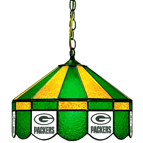 "Green Bay Packers 16"" Glass Lamp for fan cave, man caves and gaming rooms"