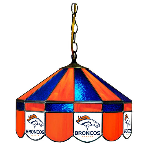 "Denver Broncos 16"" Glass Lamp for fan cave, man caves and gaming rooms"