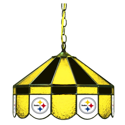 "Pittsburgh Steelers 16"" Glass Lamp for fan cave, man caves and gaming rooms"