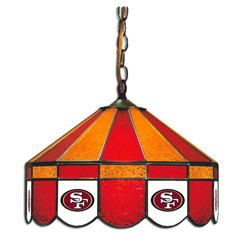"San Francisco 49Ers 16"" Glass Lamp for fan cave, man caves and gaming rooms"