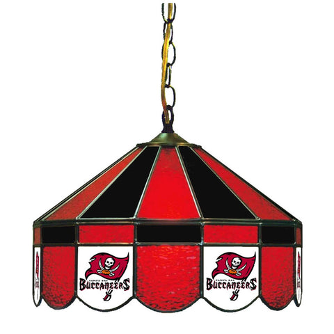 "Tampa Bay Buccaneers 16"" Glass Lamp for fan cave, man caves and gaming rooms"