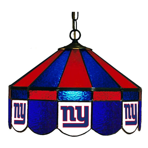 "New York Giants 16"" Glass Lamp for fan cave, man caves and gaming rooms"