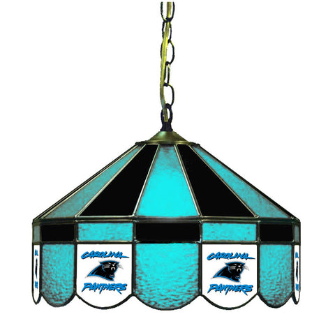 "Carolina Panthers 16"" Glass Lamp for fan cave, man caves and gaming rooms"