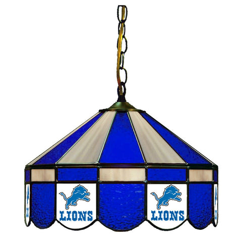 "Detroit Lions 16"" Glass Lamp for fan cave, man caves and gaming rooms"
