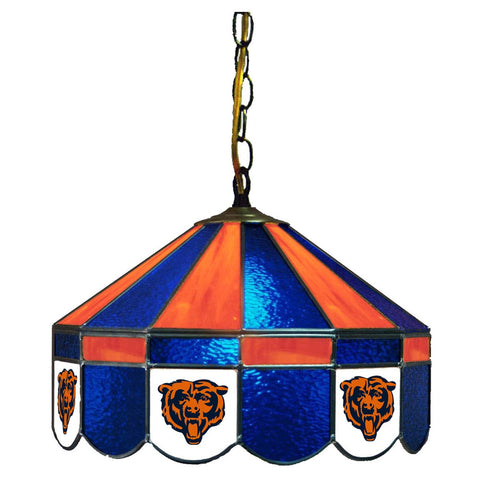 "Chicago Bears 16"" Glass Lamp for fan cave, man caves and gaming rooms"