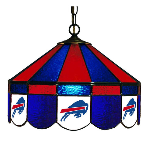 "Buffalo Bills 16"" Glass Lamp for fan cave, man caves and gaming rooms"