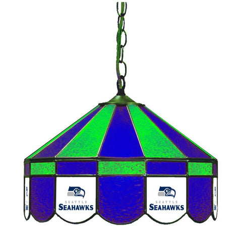 "Seattle Seahawks 16"" Glass Lamp for fan cave, man caves and gaming rooms"