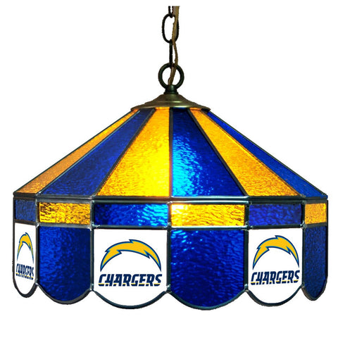 "San Diego Chargers 16"" Glass Lamp for fan cave, man caves and gaming rooms"