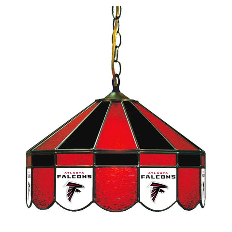 "Atlanta Falcons 16"" Glass Lamp for fan cave, man caves and gaming rooms"