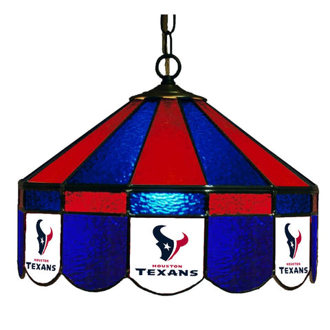 "Houston Texans 16"" Glass Lamp for fan cave, man caves and gaming rooms"